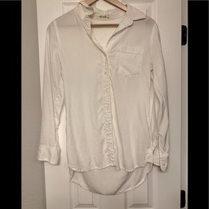 Bella Dahl crisp white button down shirt xs